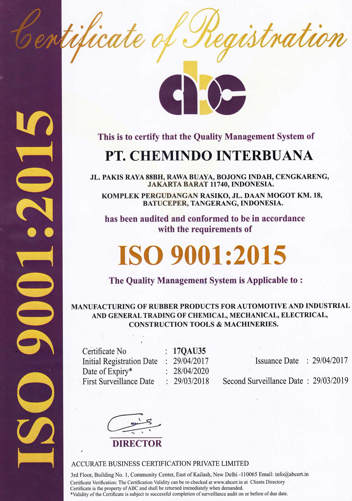 ISO Chemindo - ABC
