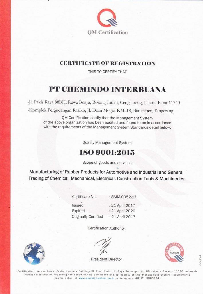 ISO Chemindo - QM