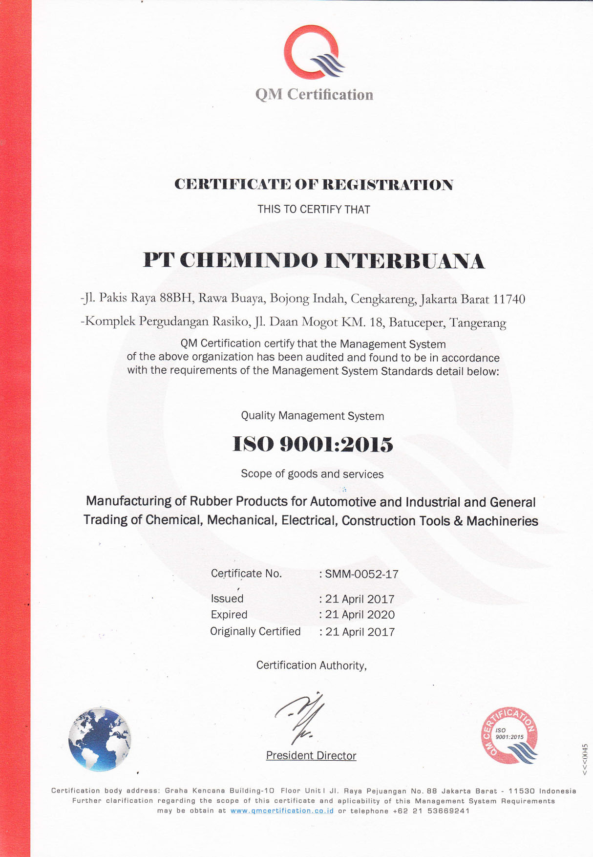 Chemindo - Distributor Rubber Chemical Indonesia